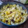 Verza stufata con patate e olive