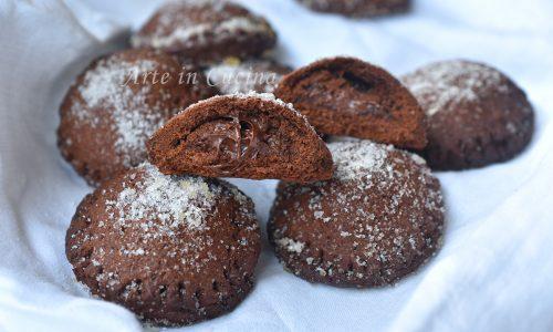 Pasticcini al cacao morbidi con nutella