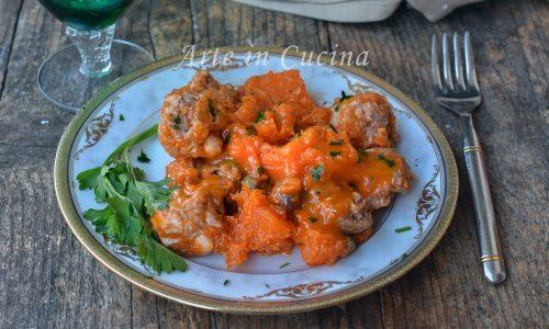 Salsicce con zucca e olive
