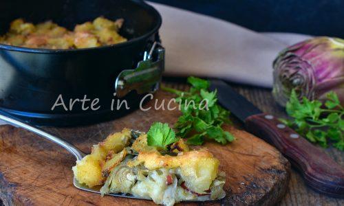 Sbriciolata di patate e carciofi