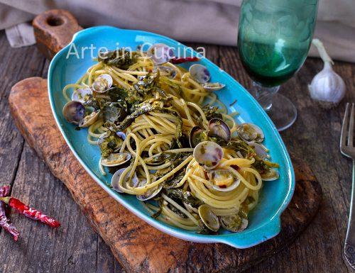 Spaghetti con friarielli e lupini