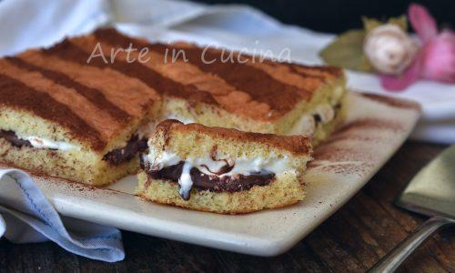 Torta morbida veloce nutella e crema