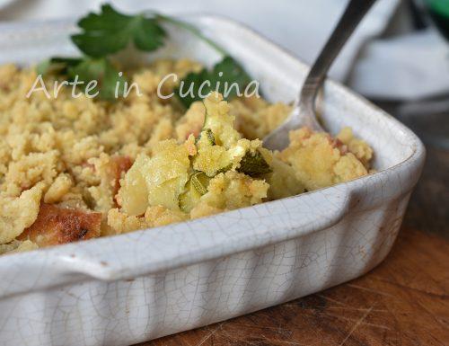 Crumble di zucchine e patate veloce