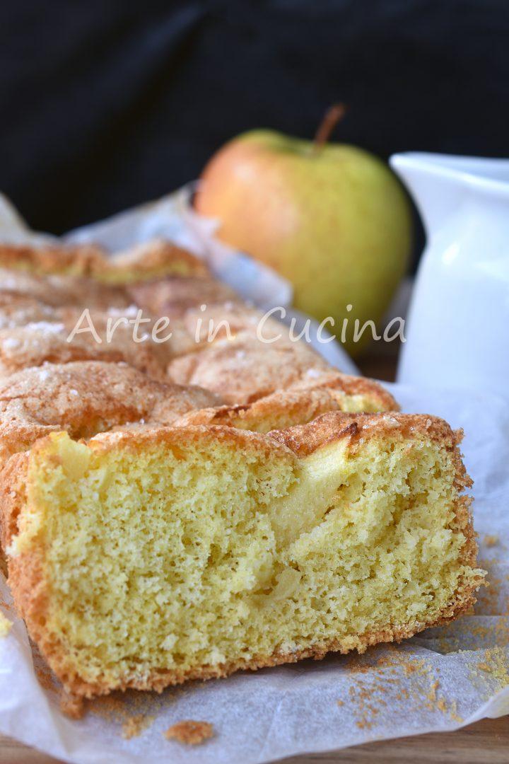 Plumcake soffice alle mele senza burro