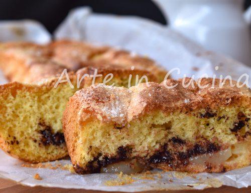 Plumcake pere e gocce di cioccolato