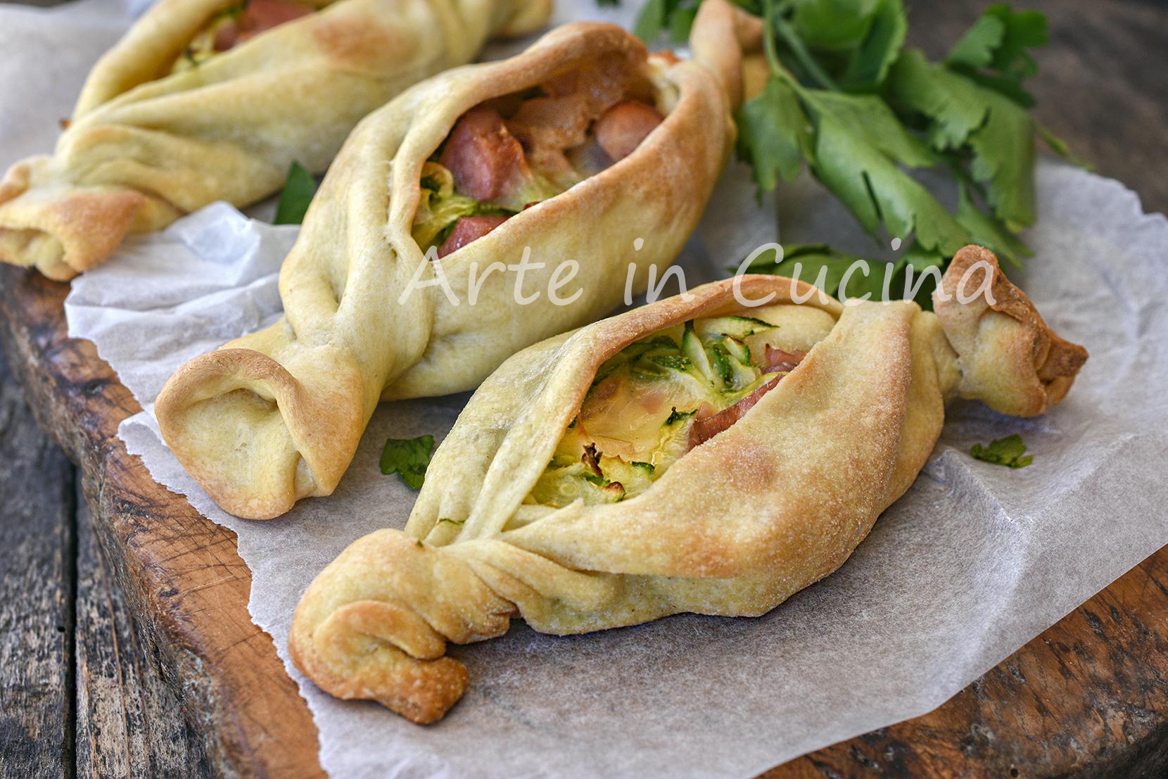 Caramelle di sfoglia con zucchine senza burro