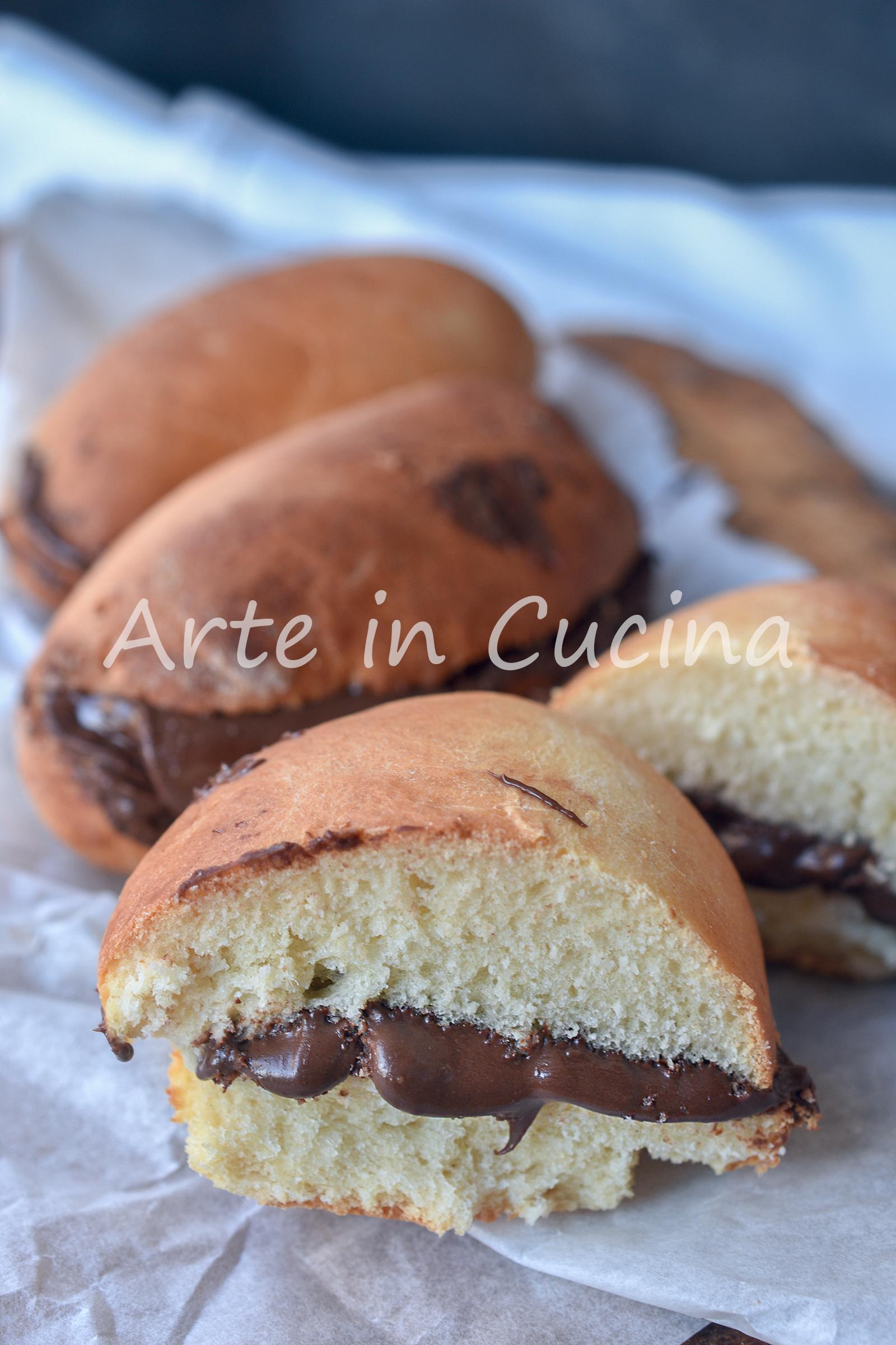 Pan di burro alla nutella dolci per colazione
