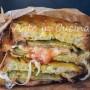 Pane con parmigiana di melanzane in carrozza