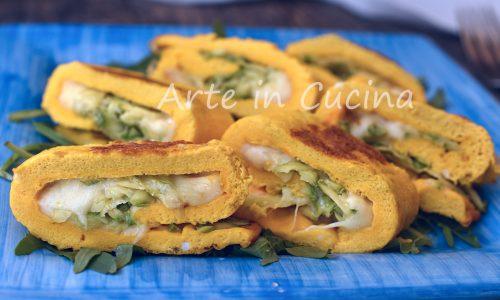 Frittata arrotolata con zucchine al forno