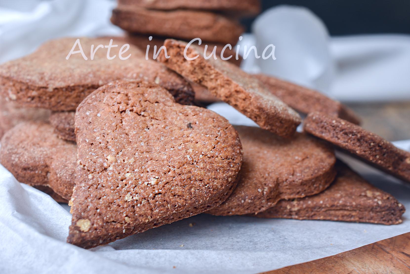 Biscotti rustici al cacao
