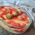 Dessert crema e fragole veloce e goloso