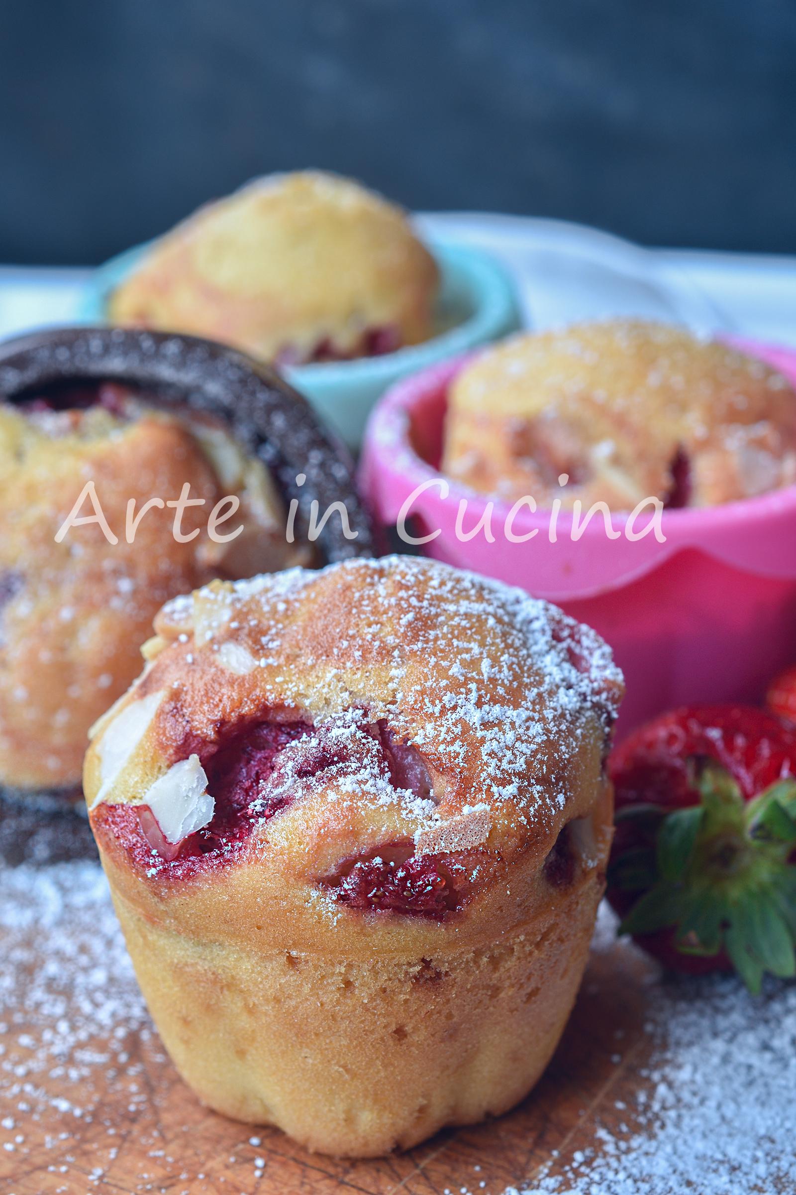 Muffin con fragole al limoncello