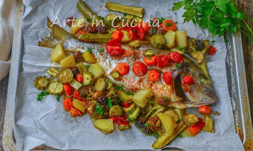 Orata con verdure al forno