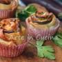 Rose con parmigiana di melanzane in pasta sfoglia