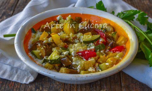 Cous cous con verdure e feta ricetta leggera estiva