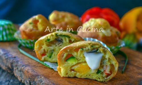 Muffin alle verdure veloci e soffici secondo o antipasto