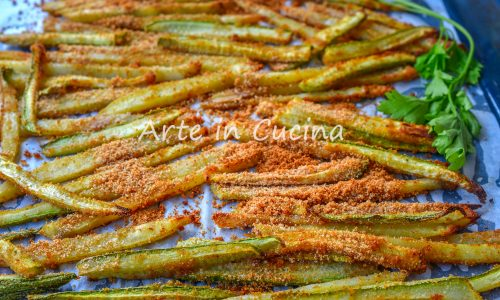Zucchine e patate gratinate al forno