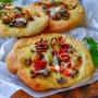 Pizzette veloci con verdure in padella