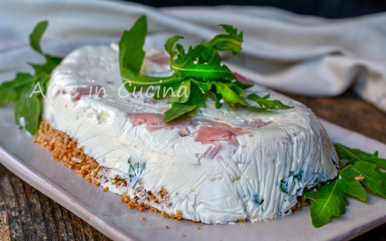 Cheesecake prosciutto e rucola torta salata veloce