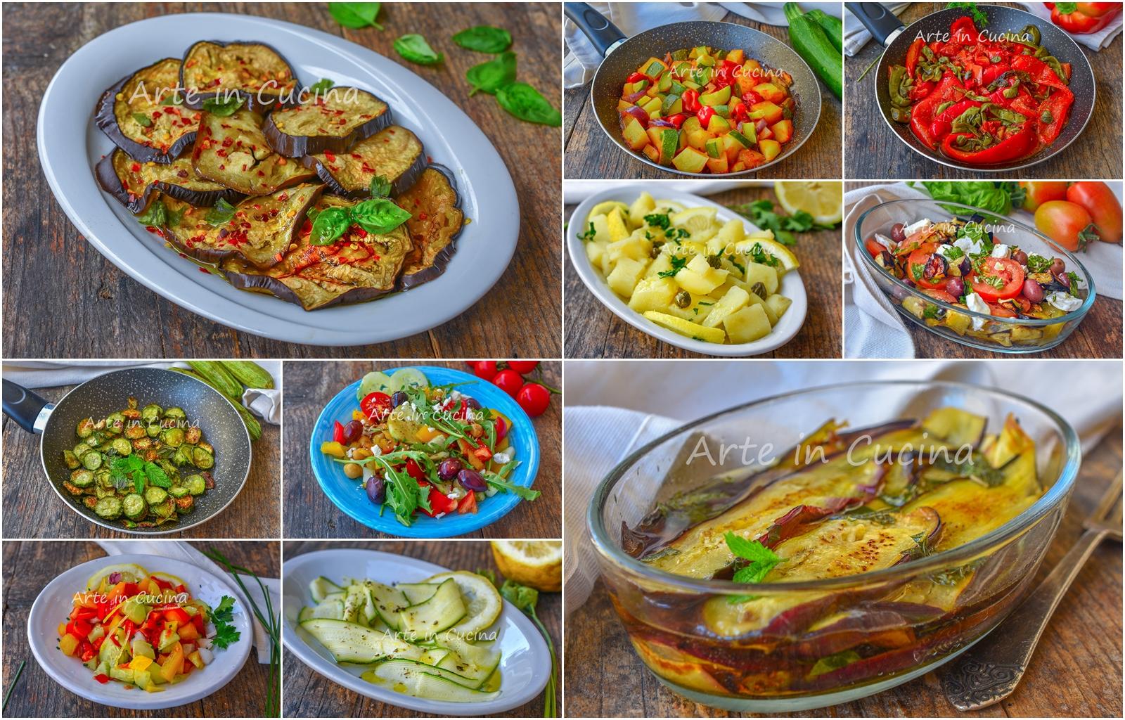 Contorni freddi estivi facili e veloci di verdure