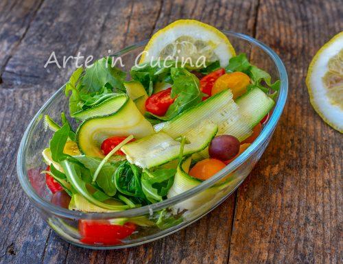 Zucchine alla crudaiola marinate contorno veloce