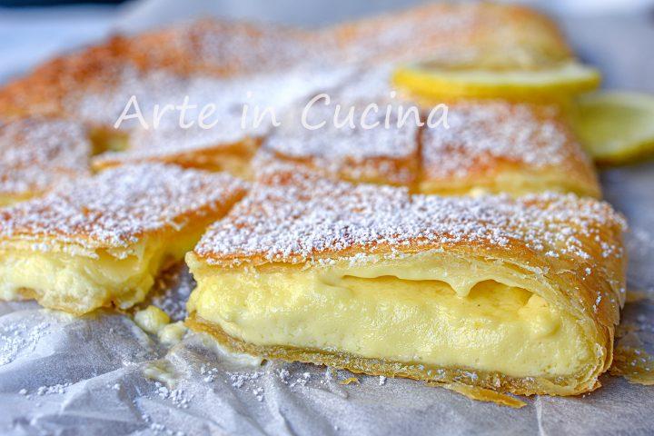 Cheesecake di sfoglia al limone e mascarpone