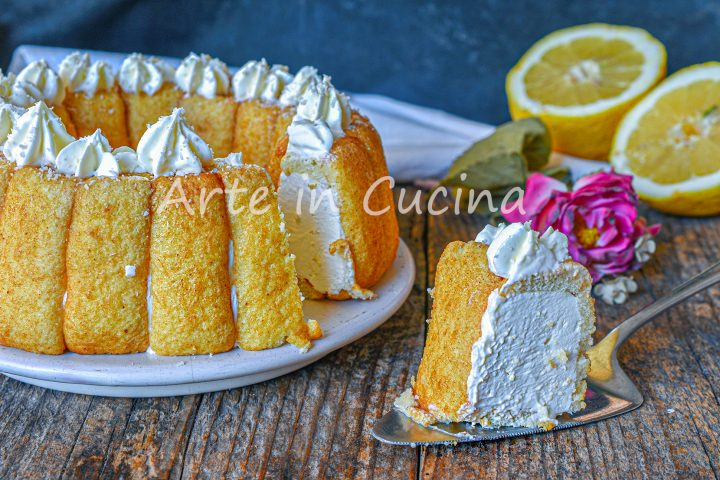Ciambella di pavesini cocco e limone dolce freddo veloce
