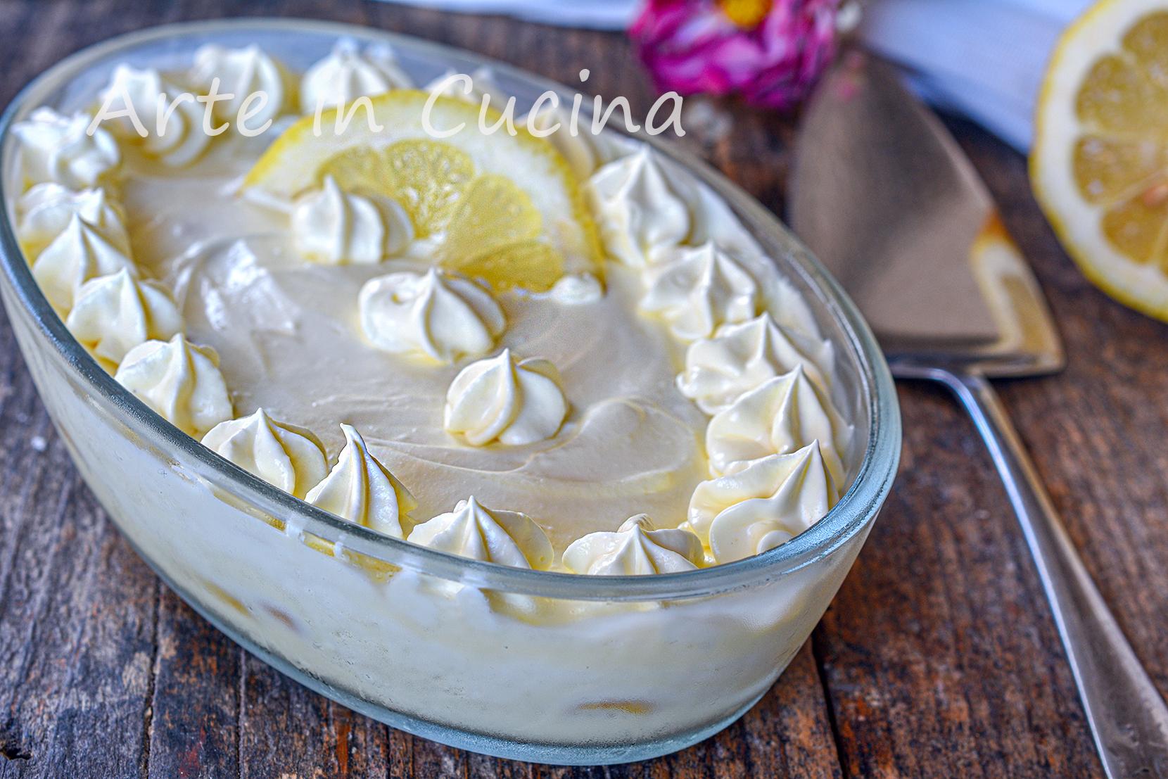Crema delizia al limone con pavesini