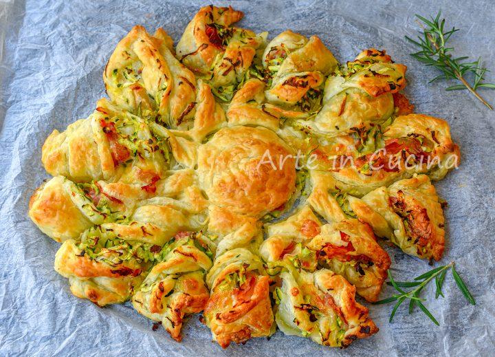 Girasole con zucchine e prosciutto antipasto di sfoglia ferragosto
