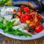 Mozzarella con melanzane a funghetto secondo o antipasto