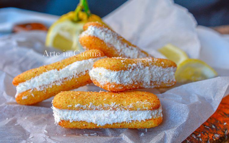 Pavesini al limone e cocco in 5 minuti