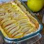 Torta della nonna alle mele con sfoglia e crema