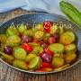 Zucchine con capperi e olive in padella