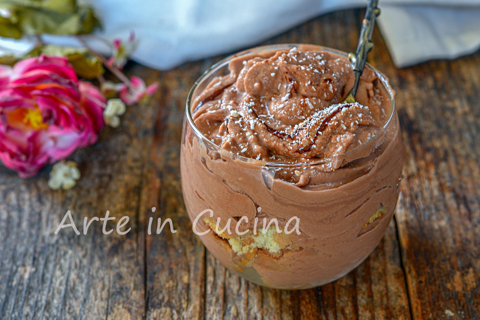 Mousse paradiso alla nutella veloce 5 minuti dolce al cucchiaio