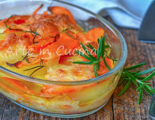 Parmigiana con patate e zucca veloce