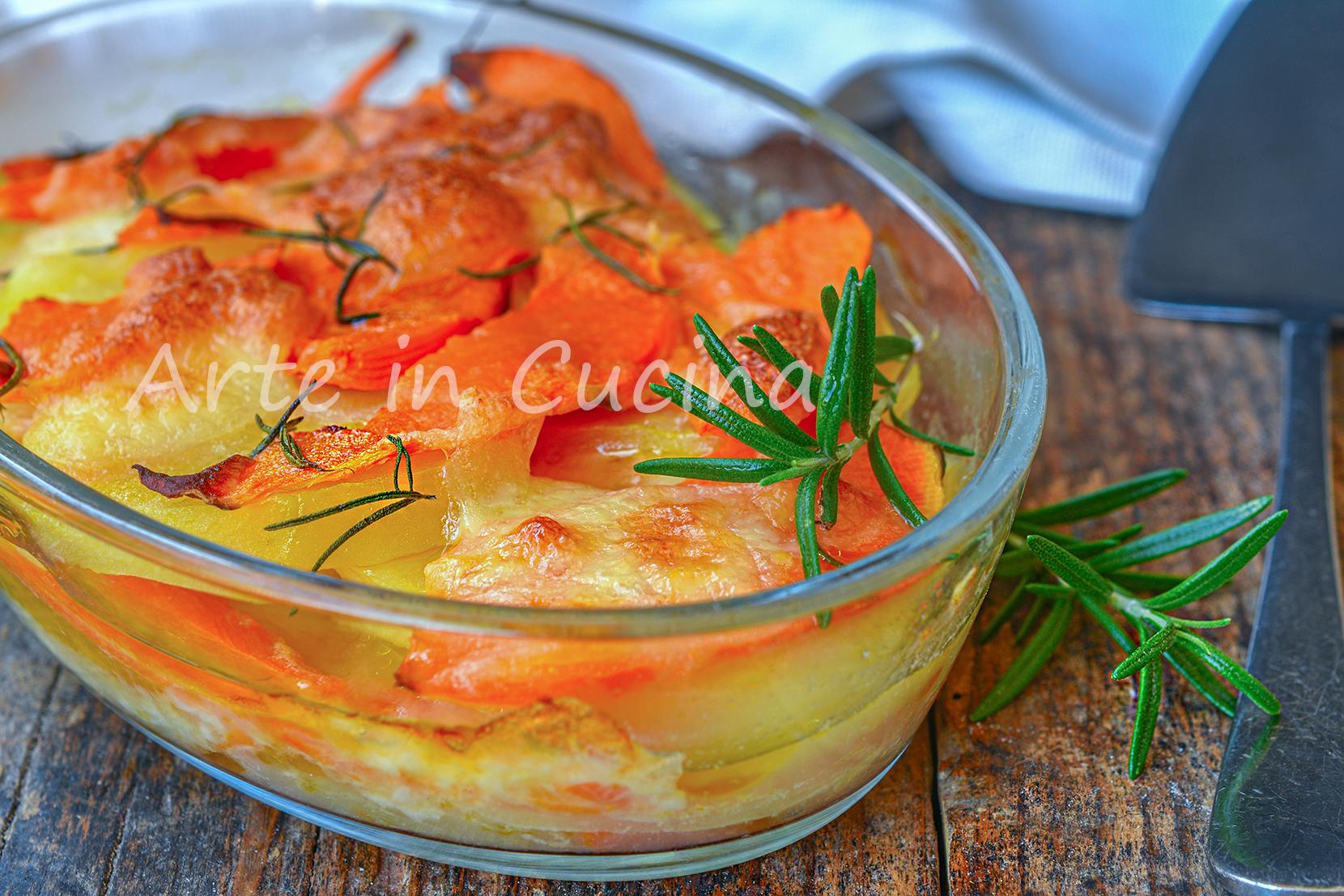 Parmigiana con patate e zucca veloce e facile, secondo piatto o piatto unico per la cena pronto in pochi minuti perfetta per la cena.