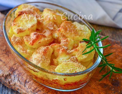 Patate al forno con formaggio gratinate contorno facile