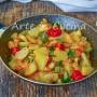 Patate alla marinara con zucchine in padella contorno
