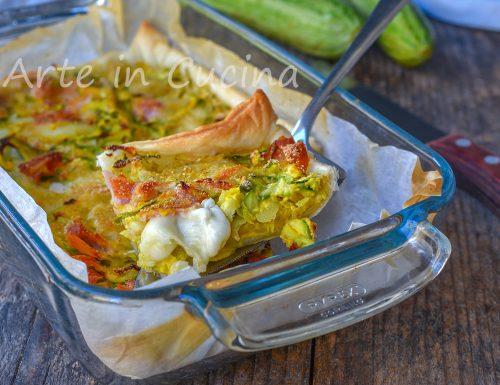 Sfogliata veloce con zucchine e patate 10 minuti