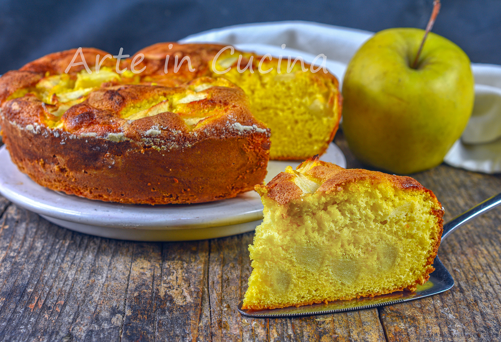 Torta 7 vasetti alle mele dolce veloce soffice