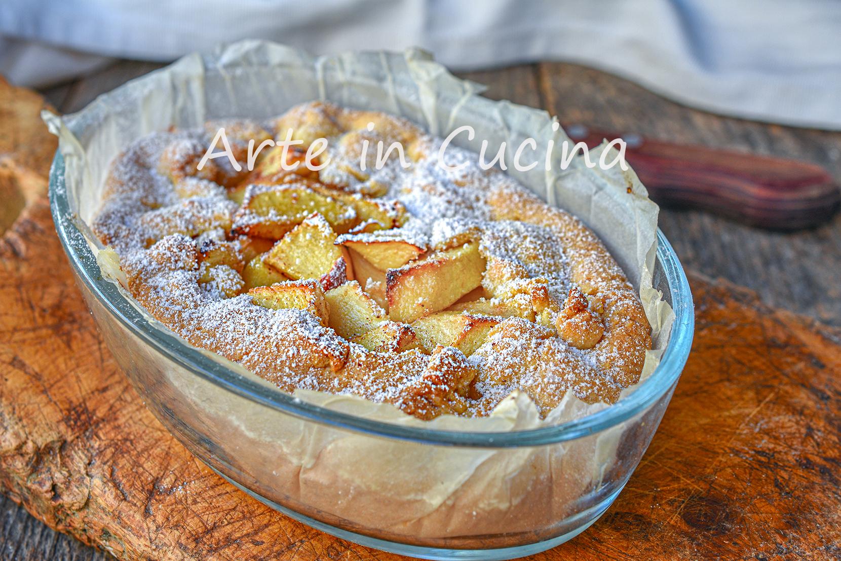Torta di mele e cannella dolce di frolla veloce