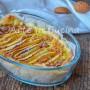 Torta di sfoglia alle mele con crema e amaretti