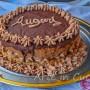 Torta con mousse alla nutella per compleanno