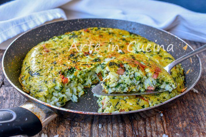 Torta di riso e spinaci in padella ricetta light