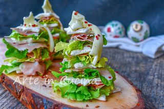 Alberelli di pane natalizi tartine antipasto