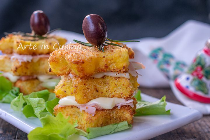 Alberelli di patate a stella antipasto sfizioso per Natale