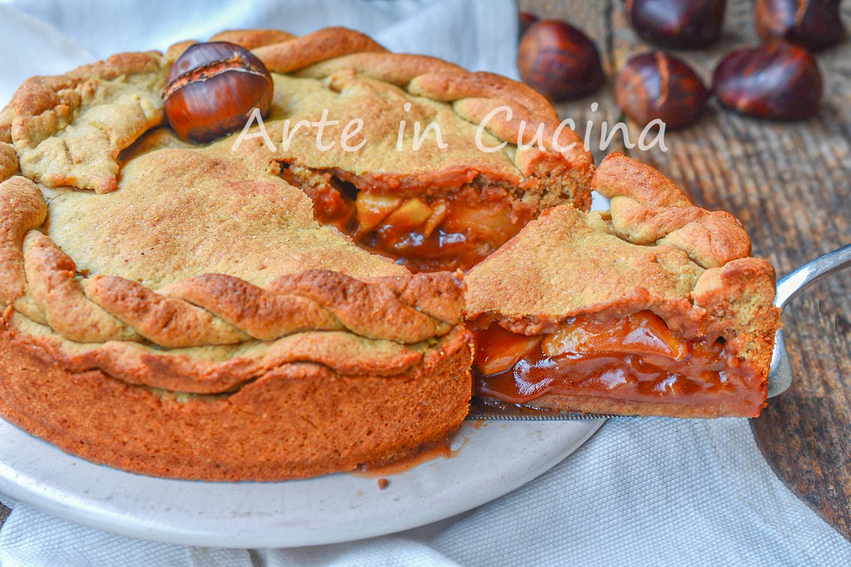 Crostata di castagne e mele dolce veloce