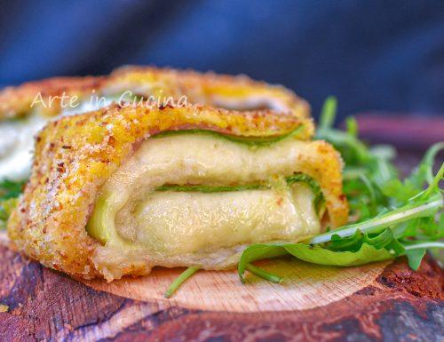 Girelle di pancarrè mortadella e zucchine in padella filanti le più gustose del mondo