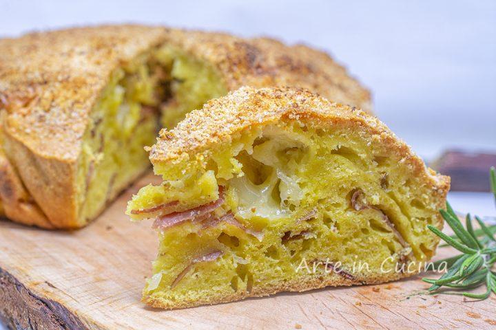 Torta 5 minuti speck e formaggio veloce torta salata svuota frigo