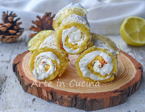 Cannoncini di pandoro con crema chantilly al limone